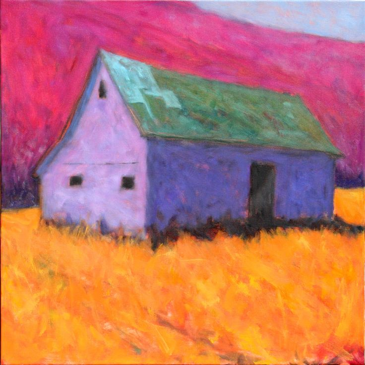 Peter Batchelder - barn painting.............Tina I like this barn.