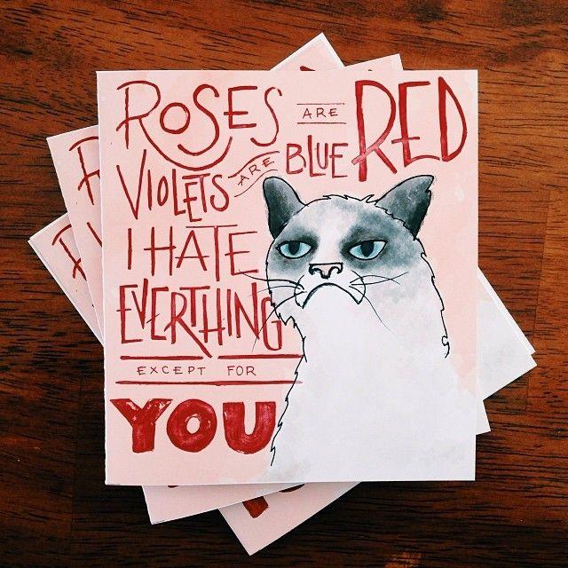 Grumpy Cat Valentines.