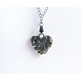Heart Charm Necklace - Silver color Jewelry