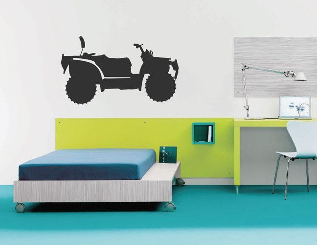Ik2172 Wall Decal Sticker Atv Racing Trucks Lounge Children S