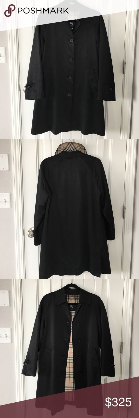 Burberry Jacket Previously loved! In good condition.. Has been stored and cleaned.. Please look at pictures and ask questions is any! I removed the tag in the pocket bc it was annoying me.. but it fits like a S/M. Burberry Jackets & Coats