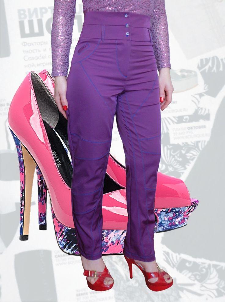 57$ Стильные брюки для полных девушек с завышенной талией зауженные к низу с силуэтом по типу джинс Артикул 580, р50-64 Брюки с завышенной талией большие размеры  Брюки деловые большие размеры  Брюки офисные большие размеры  Брюки черные большие размеры
