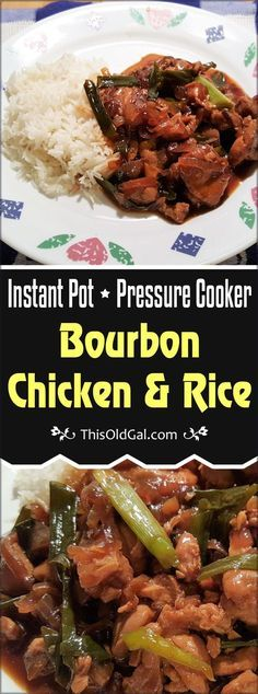 Pressure Cooker Bourbon Chicken is easy on the wallet and can be on your table in less than 30 minutes. via @thisoldgalcooks