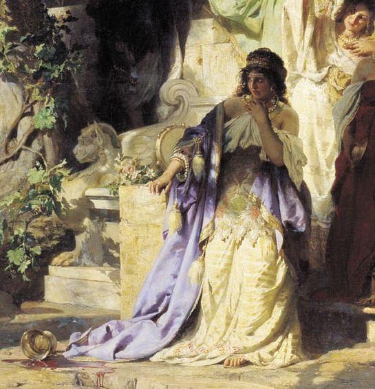 Christ and Sinner (detail) - Henryk Siemiradz