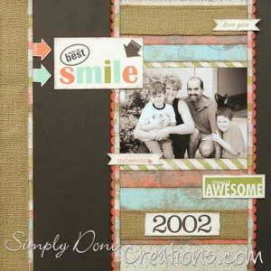 Burlap ribbon and MDS embellishments