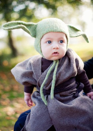 J really wants to be Yoda. Maybe I could get my sis to make him something like this...