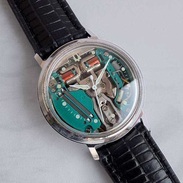 BULOVA ACCUTRON SPACEVIEW Gents Vintage Tuning Fork Watch 1969 - Technically a precursor of quartz