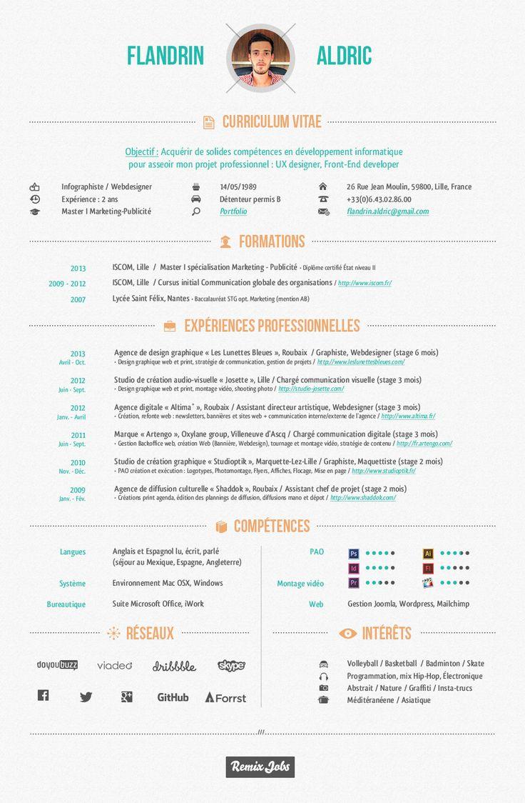 44 best cv resume images on pinterest graphic design resume