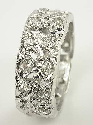 Antique Diamond Wedding Band