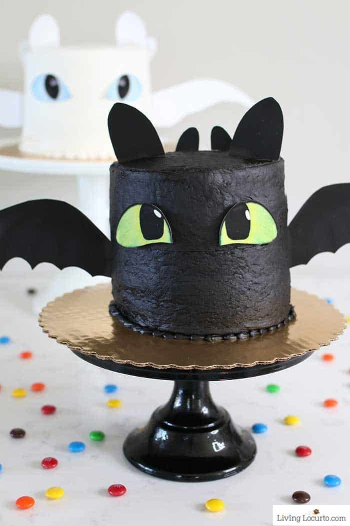 Amazing How To Train Your Dragon White Cake Recipe Dragon Birthday Personalised Birthday Cards Veneteletsinfo