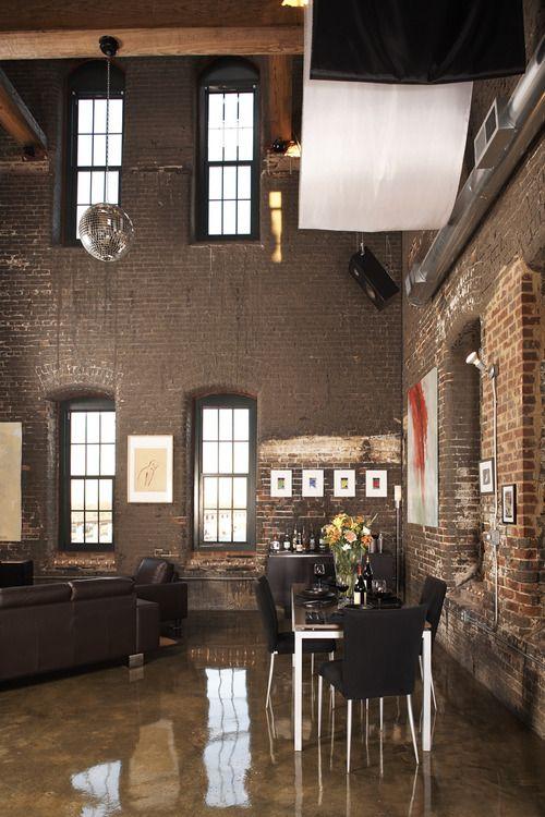 Best 25 brick loft ideas on pinterest loft interiors for Decoracion loft industrial