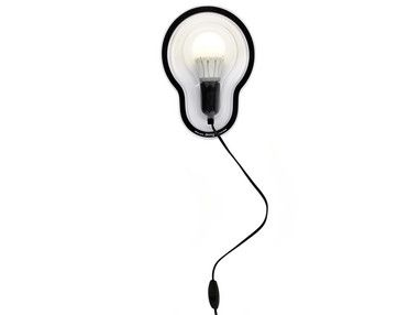 Sticky lamp by Chris Kabel No more wrap rage. The hard plastic packaging, that is often hard to remove without getting frustrated, has become the lampshade. You can stick this self-adhesive light wherever you want, on the ceiling, door, wall or floor.