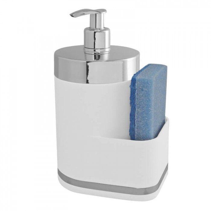 Porta Detergente e Bucha Eleganza - Branco Supermercado Digital