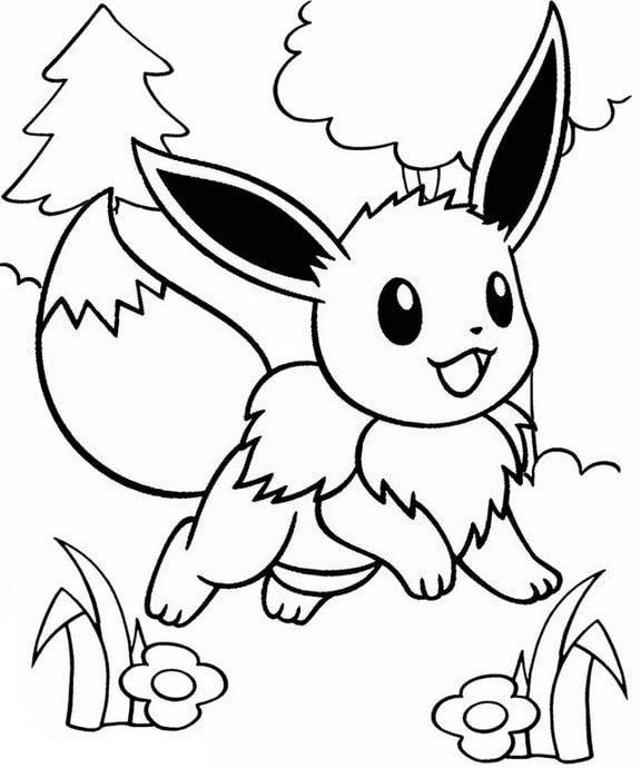 Cute Eevee Coloring Page For Kid Minion Coloring Pages Coloring Pages For Kids Coloring Pages