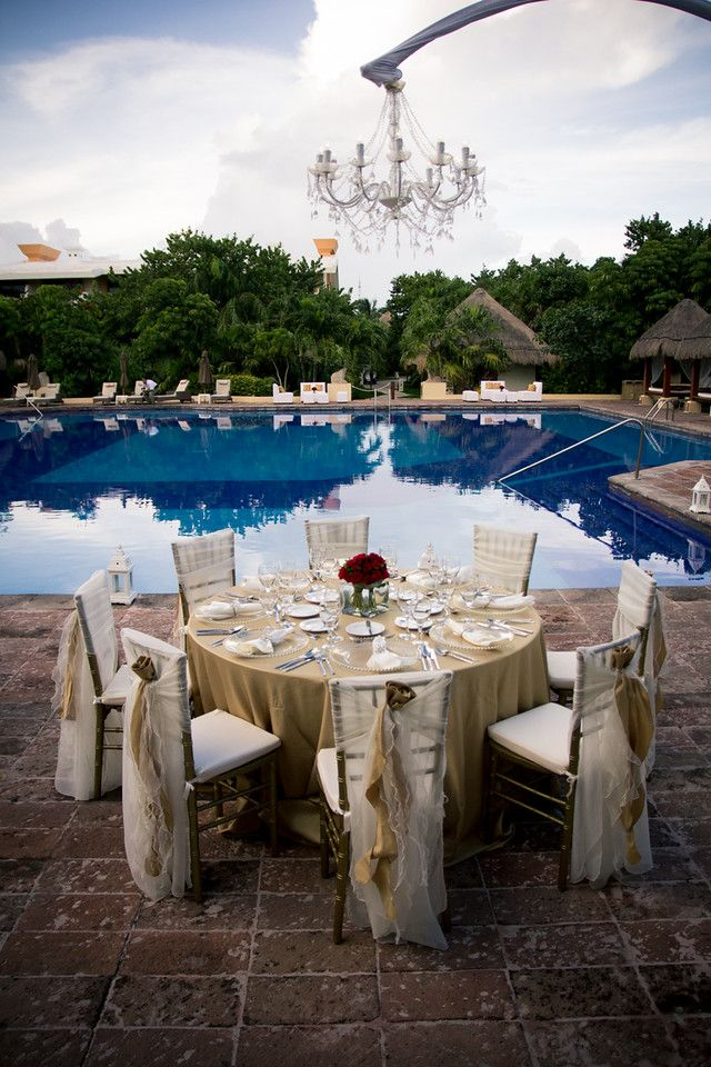 Your reception could have a calming view of a crystal clear pool at the Preferred Pool #NowSapphire