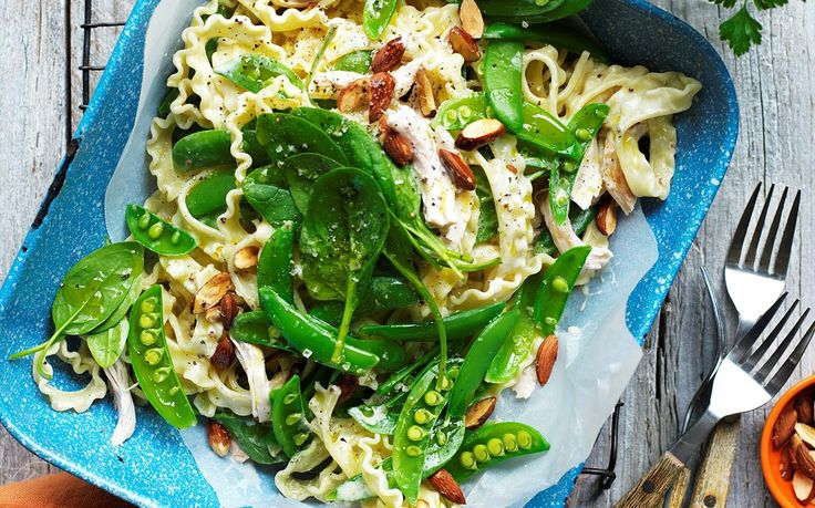 Chicken and sugar snap pea pasta recipe - By Australian Women's Weekly, This nourishing chicken and sugar snap pea pasta is perfect for mid-week dinner ideas. Quick and easy, and packed with bags of mouth-watering flavour!