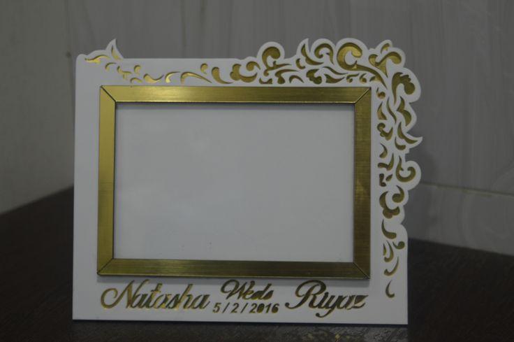 laser cut photo frame
