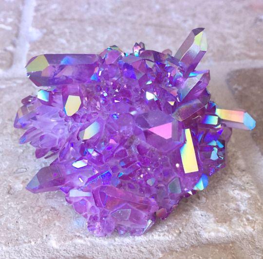 Purple Galaxy Aura Quartz Cluster Gems Pinterest