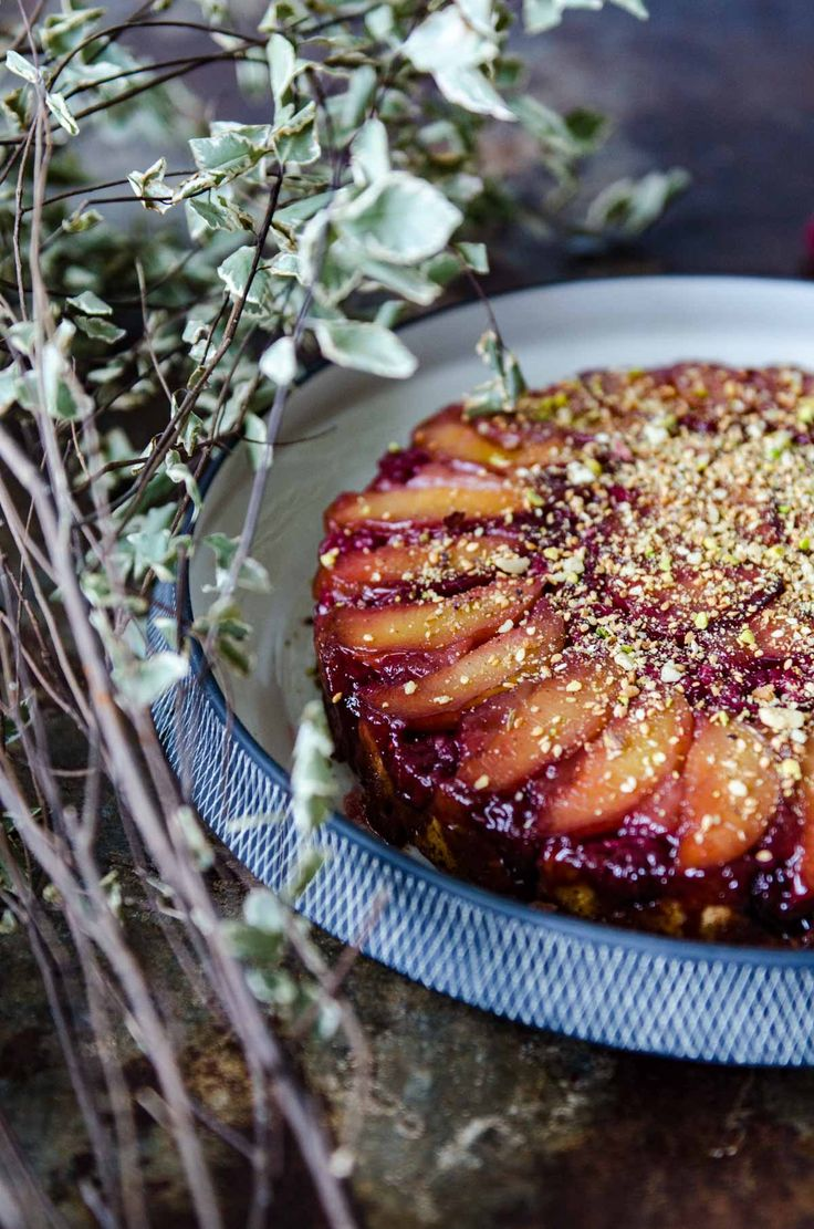 Gluten Free Plum and Raspberry Cake | Chew Town Food Blog