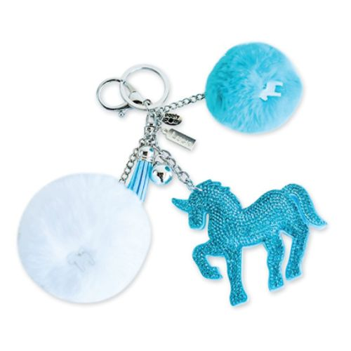 Poofy Pom Unicorn Keychain. Cute Christmas gifts inexpensive. Stocking Stuffers ...