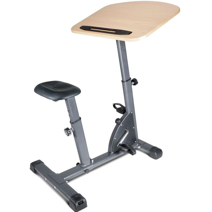 Titan Fitness Folding Exercise Cycle Desk w Wood Top