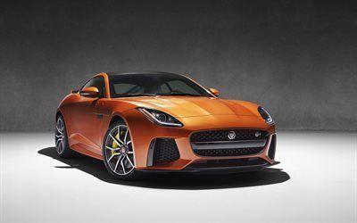 Scarica sfondi jaguar, sport coupe, f-tipo di svr, 2016