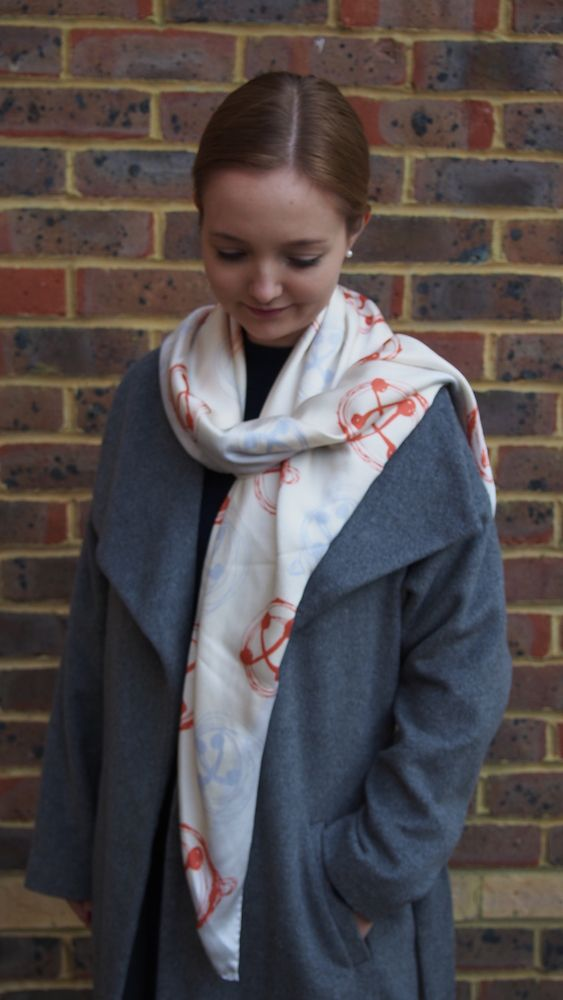 All the Bells and Whistles Folklore Large Silk Square Scarf £160.00