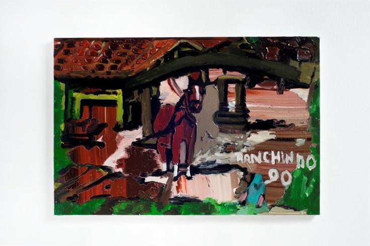 Rodrigo Andrade - 2012 |  Versão sobre obra de Ranchinho S/T - 1990 |  Óleo sobre tela sobre mdf |  40 x 60 cm
