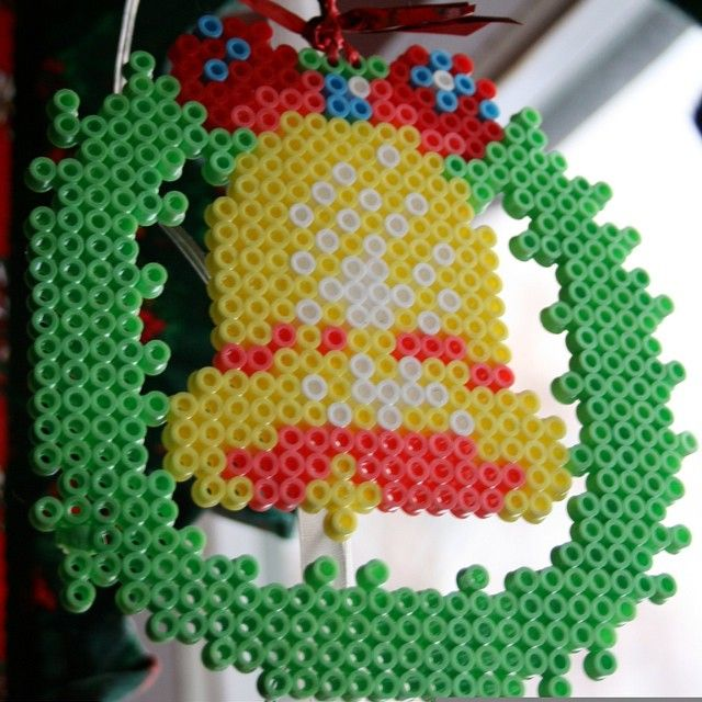 christmas bell perler beads by irene5000 hama. Black Bedroom Furniture Sets. Home Design Ideas