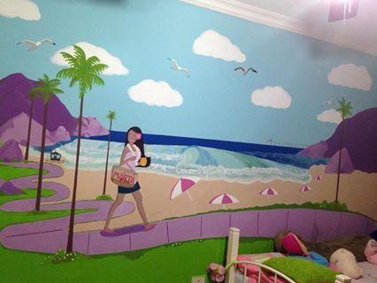 Pintura en cuarto de mi gorda Marta Isabel hecho por mi