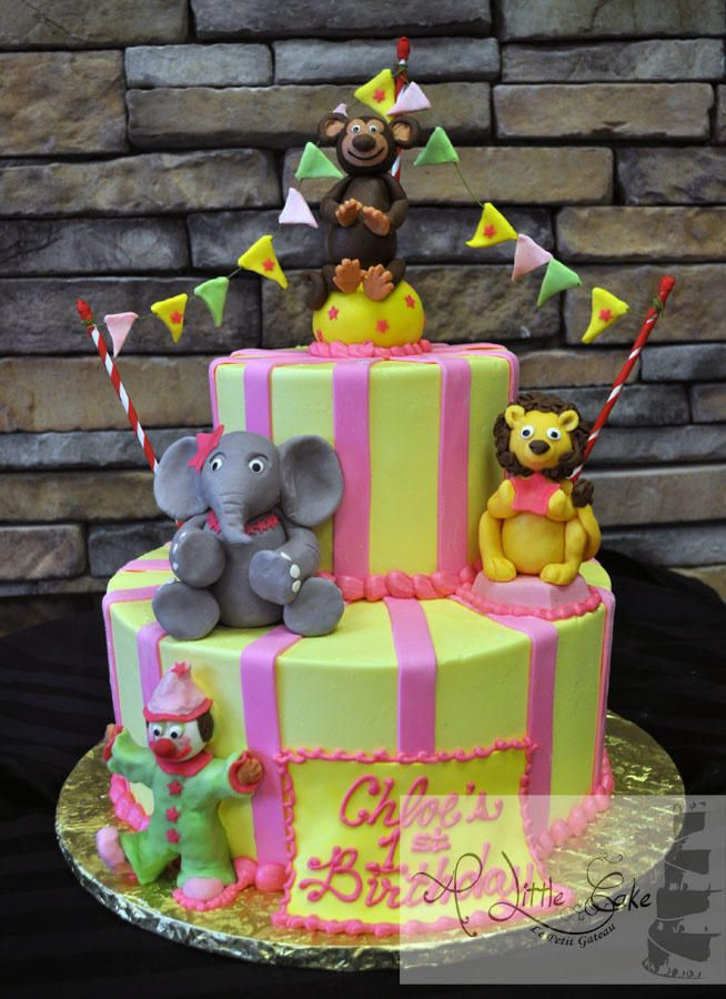 1st Birthday Circus Themed Cake | A Little Cake - Cake by Leo Sciancalepore