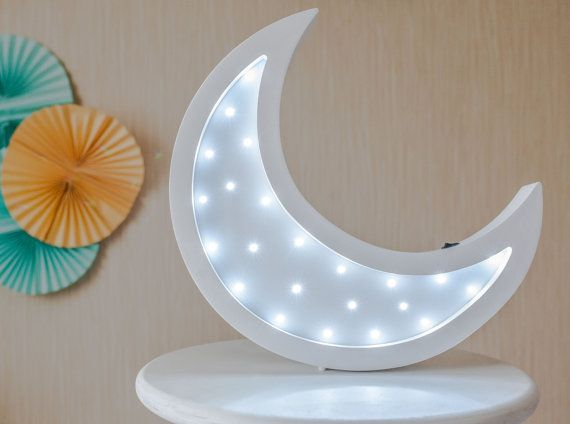 Moon Lamp Light Night Baby Room Nursery Shower