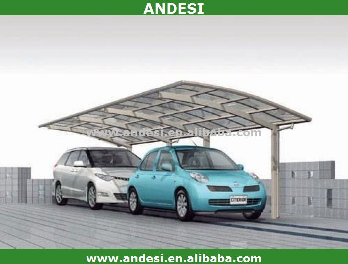 Hot sale arch roof carport with double car