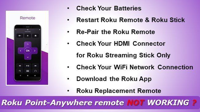 ROKU IR Remote | Roku Point-Anywhere Remote Not Working