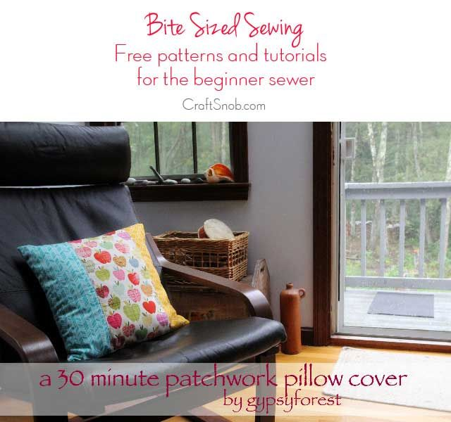 Free Sewing Pattern and Tutorial - Patchwork Pillow Cover