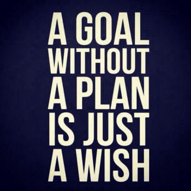 Always plan your goals