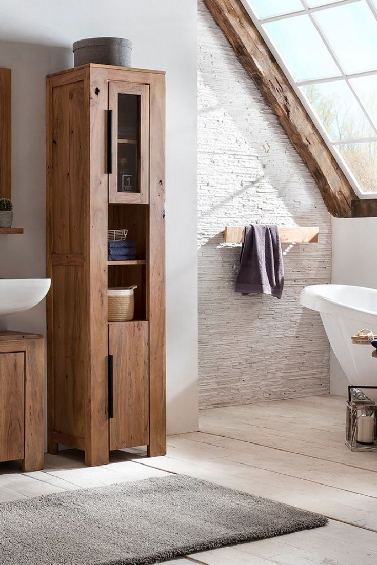 Bad Hochschrank Auckland In 2020 Hochschrank Badezimmer Ablage
