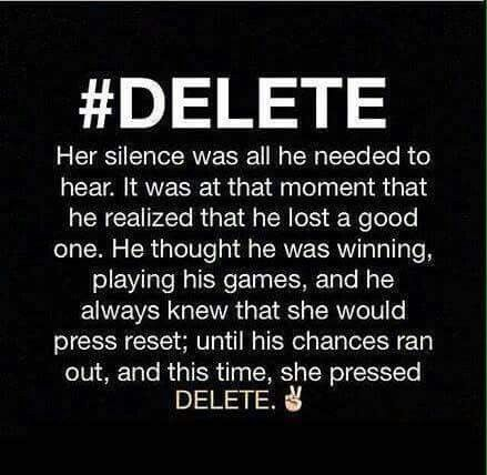 I have pushed the reset button so many times. It hurts. I think the reset button helps you build up to be able to push the delete without guilt. Alone is no longer scary. Peace.