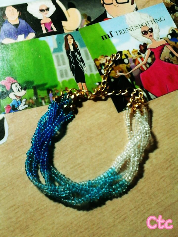ombre blue bracelet (also availble in other colours) ...6$ #ctc #collection #ombre #blue #bracelet