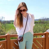 Chic of the Week: Alexandra's Pastel Pants