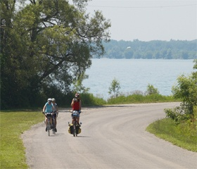 Cycle the waterfront trail in Port Hope