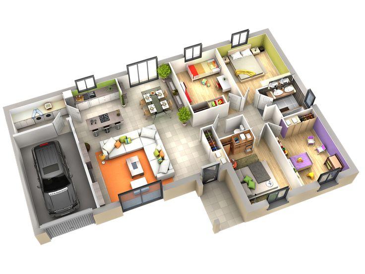 69 best Plans maisons images on Pinterest Apartments, 3d house