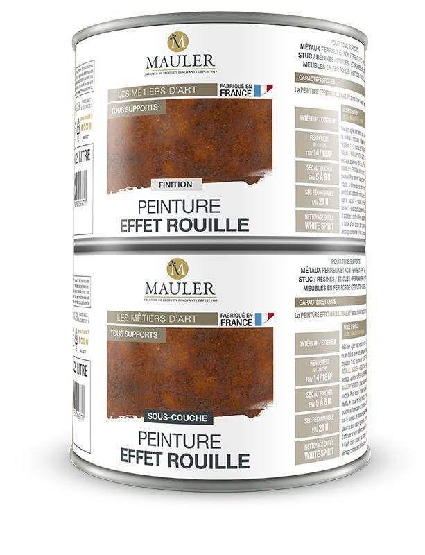 La peinture effet rouille Mauler est le produit idéal pour l
