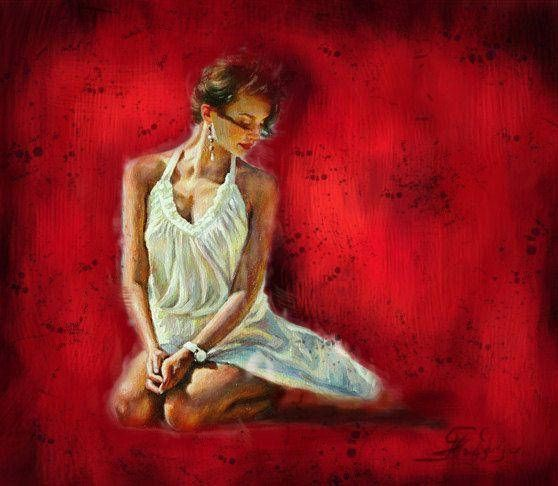 Decorative Art Erotic Woman Oil Painting Woman figure