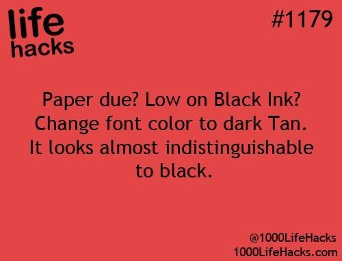 #lifehack for low printer ink.