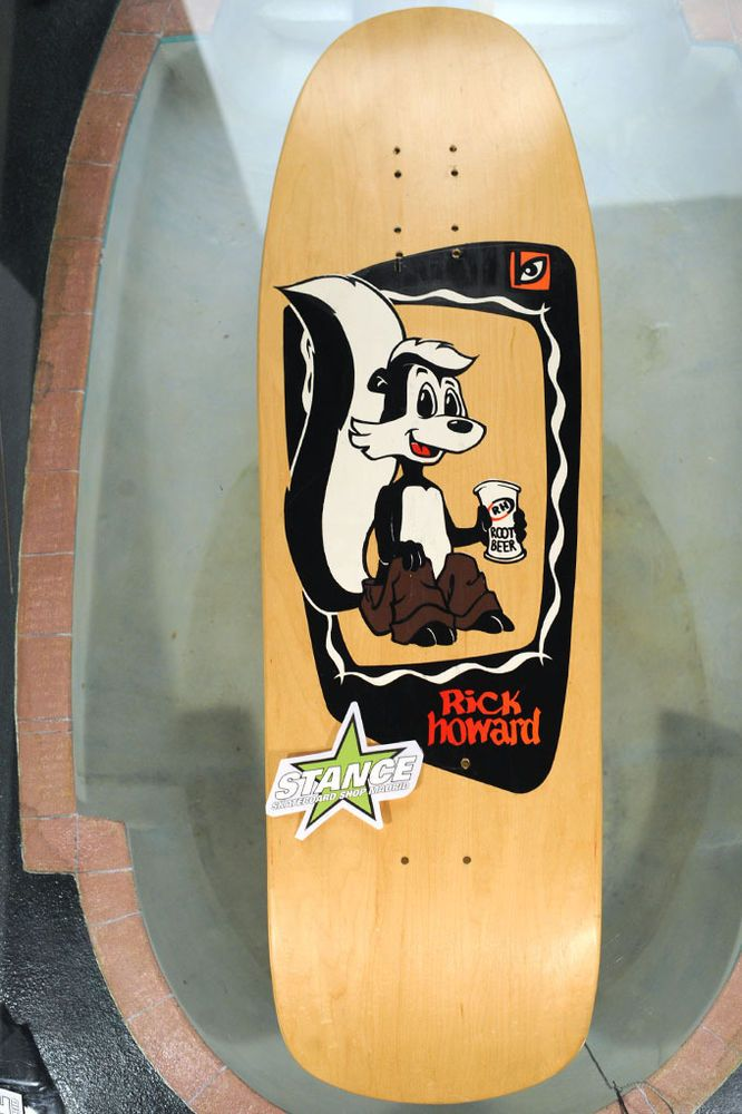 Skateboard deck NOS Blockhead Rick Howard Skunk. Color, Natural. Original vintag #Blockhead #stanceskateboardshop