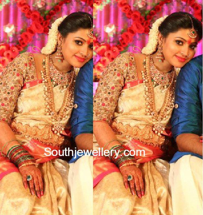 Sneha Prasannas Baby Shower Function Jewellery photo