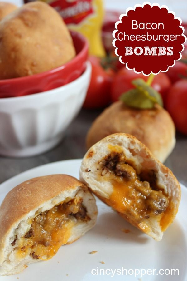 Bacon Cheeseburger Bombs- Great for Super Bowl!
