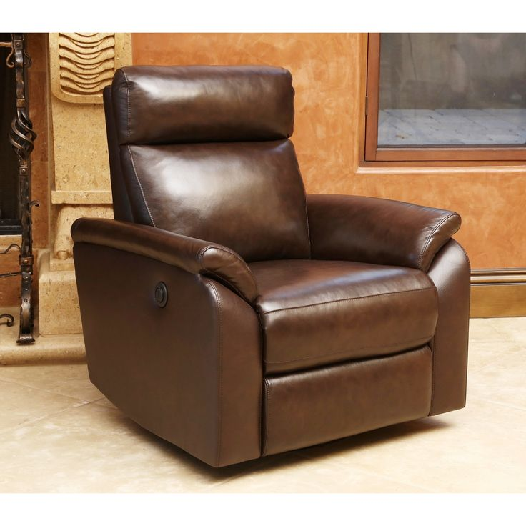 The Abbyson Living Power Swivel Recliner Features A Push Button Mechanism,  Corner Blocked Joinery