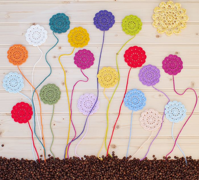 DMC Natura Yarn Crochet Flowers Pattern